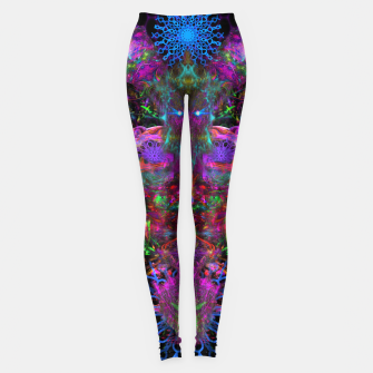 Thumbnail image of 7 Temporal Spirits (psychedelic, totem, psytrance, trippy, fluorescent) Leggings, Live Heroes