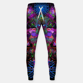 Thumbnail image of 7 Temporal Spirits (psychedelic, totem, psytrance, trippy, fluorescent) Cotton sweatpants, Live Heroes