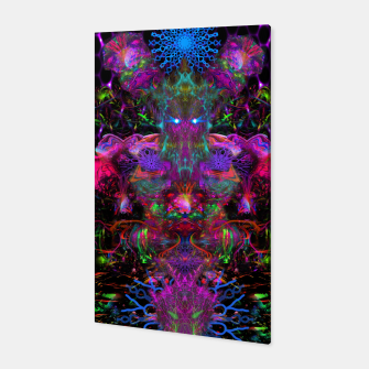 Thumbnail image of 7 Temporal Spirits (psychedelic, totem, psytrance, trippy, fluorescent) Canvas, Live Heroes