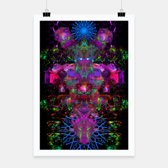 Thumbnail image of 7 Temporal Spirits (psychedelic, totem, psytrance, trippy, fluorescent) Poster, Live Heroes