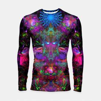 Thumbnail image of 7 Temporal Spirits (psychedelic, totem, psytrance, trippy, fluorescent) Longsleeve rashguard , Live Heroes