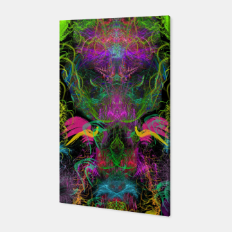 Miniatur Crabgrass Entrancement (abstract, psychedelic, visionary, totem) Canvas, Live Heroes