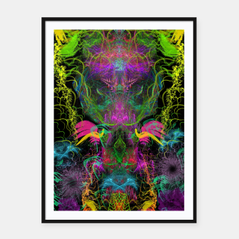 Miniatur Crabgrass Entrancement (abstract, psychedelic, visionary, totem) Framed poster, Live Heroes