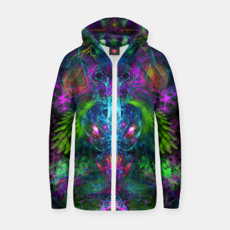 Thumbnail image of Evening Glory Vortex (psychedelic, visionary, psytrance, trippy) Cotton zip up hoodie, Live Heroes
