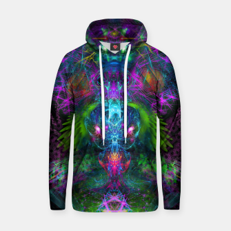 Thumbnail image of Evening Glory Vortex (psychedelic, visionary, psytrance, trippy) Cotton hoodie, Live Heroes