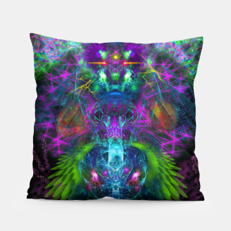 Thumbnail image of Evening Glory Vortex (psychedelic, visionary, psytrance, trippy) Pillow, Live Heroes