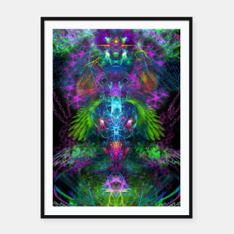 Thumbnail image of Evening Glory Vortex (psychedelic, visionary, psytrance, trippy) Framed poster, Live Heroes