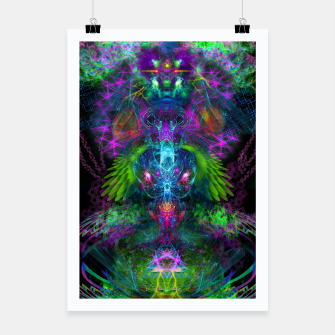 Thumbnail image of Evening Glory Vortex (psychedelic, visionary, psytrance, trippy) Poster, Live Heroes