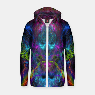 Miniatur Thunder Exhalation (visionary, psychedelic, totem, psyart) Cotton zip up hoodie, Live Heroes