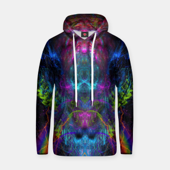 Miniatur Thunder Exhalation (visionary, psychedelic, totem, psyart) Cotton hoodie, Live Heroes