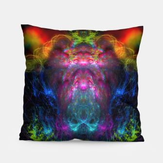 Miniatur Thunder Exhalation (visionary, psychedelic, totem, psyart) Pillow, Live Heroes