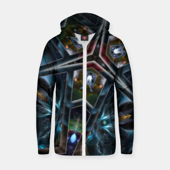 Thumbnail image of Realm Of Divergence Cotton zip up hoodie, Live Heroes