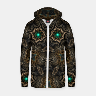 Thumbnail image of Ticorian Loops Cotton zip up hoodie, Live Heroes