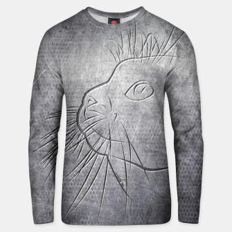 Line Art Cat Metallic Baumwoll sweatshirt thumbnail image
