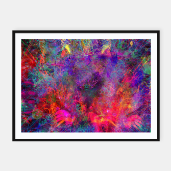 Thumbnail image of Seahorse Cove (abstract, underwater, sea life) Framed poster, Live Heroes