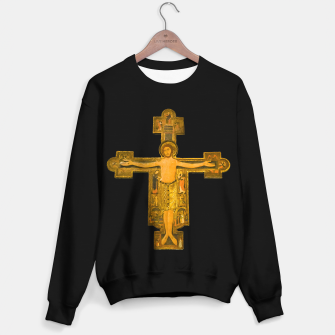 Thumbnail image of Medieval Style Jesus Christ on Cross Sweater regular, Live Heroes