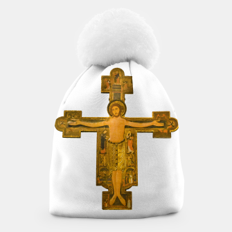 Thumbnail image of Medieval Style Jesus Christ on Cross Beanie, Live Heroes