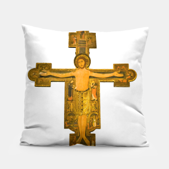 Thumbnail image of Medieval Style Jesus Christ on Cross Pillow, Live Heroes