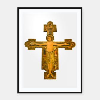 Thumbnail image of Medieval Style Jesus Christ on Cross Framed poster, Live Heroes
