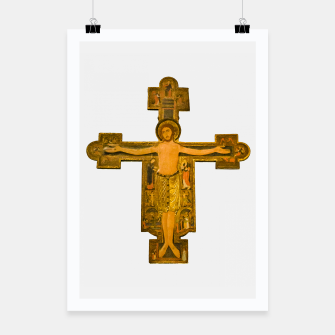 Thumbnail image of Medieval Style Jesus Christ on Cross Poster, Live Heroes