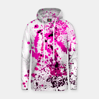 Thumbnail image of Magenta Madness - Abstract Splatter Art Hoodie, Live Heroes