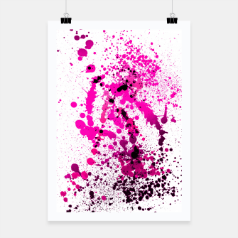 Thumbnail image of Magenta Madness - Abstract Splatter Art Poster, Live Heroes