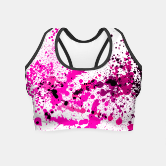Thumbnail image of Magenta Madness - Abstract Splatter Art Crop Top, Live Heroes