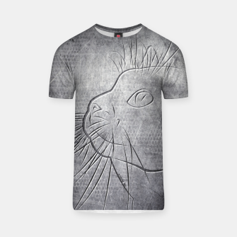 Line Art Cat Metallic T-Shirt thumbnail image