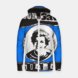 Thumbnail image of God save Diana Cotton zip up hoodie, Live Heroes