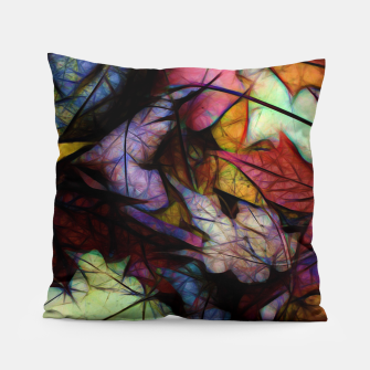 Thumbnail image of Fall Leaves Abstract Pillow, Live Heroes