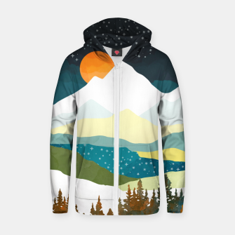 Thumbnail image of Winters Night Cotton zip up hoodie, Live Heroes