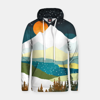 Thumbnail image of Winters Night Cotton hoodie, Live Heroes