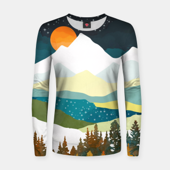 Thumbnail image of Winters Night Woman cotton sweater, Live Heroes