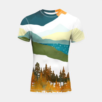 Thumbnail image of Winters Night Shortsleeve rashguard, Live Heroes
