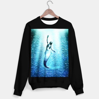 Bubbles (Mermaid under Water) Sweatshirt regulär obraz miniatury