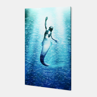 Bubbles (Mermaid under Water) Canvas obraz miniatury