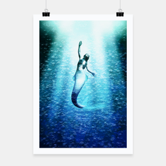 Bubbles (Mermaid under Water) Plakat obraz miniatury