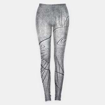 Line Art Cat Metallic Leggings thumbnail image