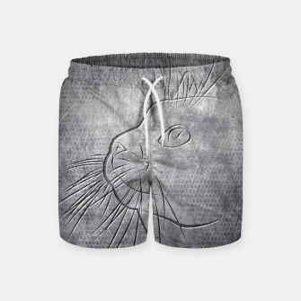 Line Art Cat Metallic Badeshorts thumbnail image