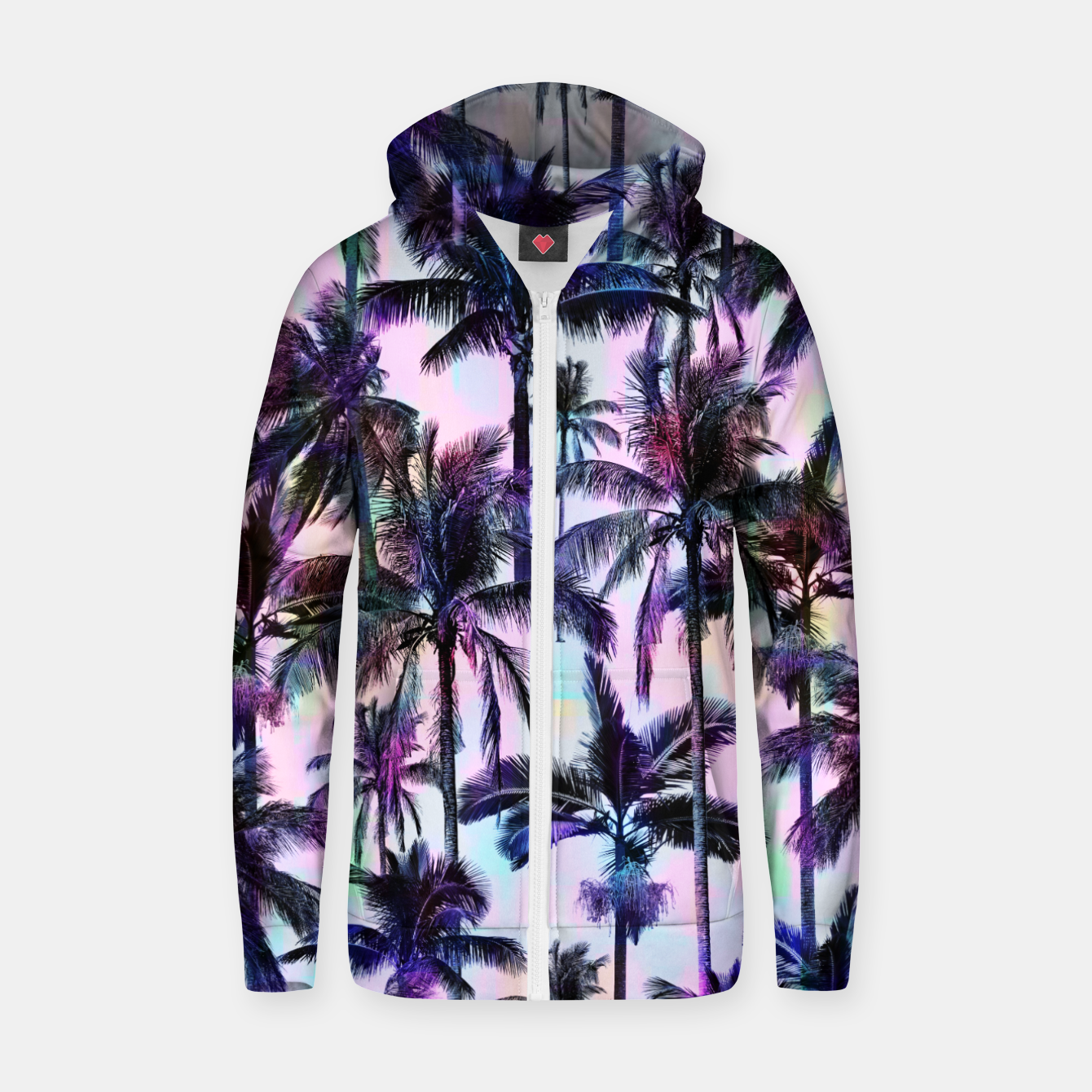 Foto Scenic Statements Palm Cotton zip up hoodie - Live Heroes