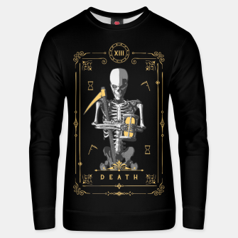 Thumbnail image of Death XIII Tarot Card Cotton sweater, Live Heroes