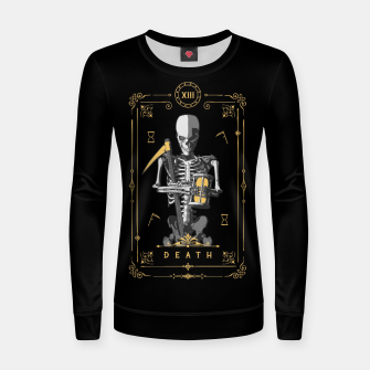 Thumbnail image of Death XIII Tarot Card Woman cotton sweater, Live Heroes