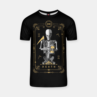 Thumbnail image of Death XIII Tarot Card T-shirt, Live Heroes