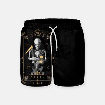 Thumbnail image of Death XIII Tarot Card Swim Shorts, Live Heroes