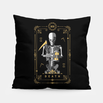 Thumbnail image of Death XIII Tarot Card Pillow, Live Heroes
