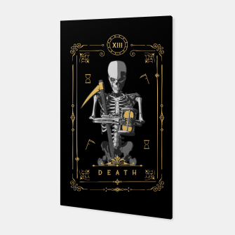 Thumbnail image of Death XIII Tarot Card Canvas, Live Heroes