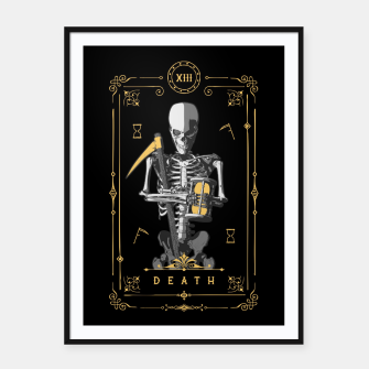 Thumbnail image of Death XIII Tarot Card Framed poster, Live Heroes