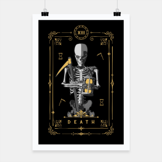 Thumbnail image of Death XIII Tarot Card Poster, Live Heroes