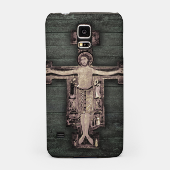 Thumbnail image of Medieval Style Jesus Christ on Cross Sculpture Artwork Samsung Case, Live Heroes