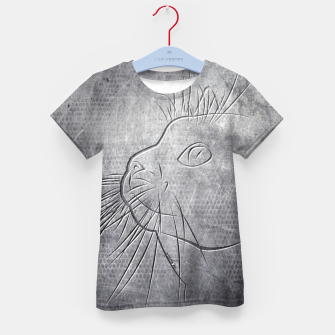 Line Art Cat Metallic T-Shirt für kinder thumbnail image